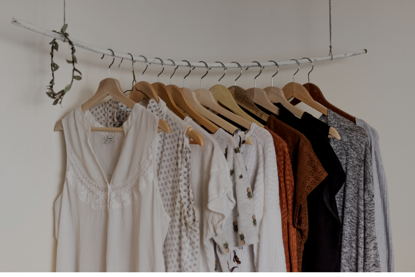 A clothes rail with women's clothes: What to wear to a 2-day event