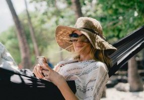 Woman in hammock: the easy way to create positive change